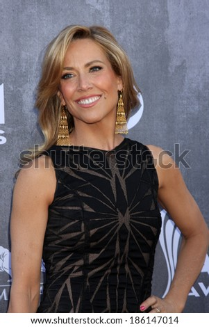 LAS VEGAS - APR 6:  Sheryl Crow at the 2014 Academy of Country Music Awards - Arrivals at MGM Grand Garden Arena on April 6, 2014 in Las Vegas, NV - stock photo