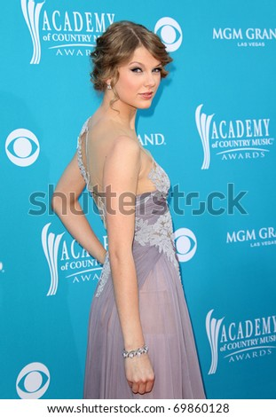 LAS VEGAS - APR 18:  Taylor Swift arrives at the 45th Academy of Country Music Awards  on April 18, 2010 in Las Vegas, NV - stock photo