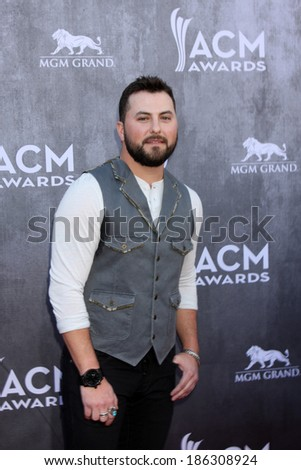 LAS VEGAS - APR 6:  Tyler Farr at the 2014 Academy of Country Music Awards - Arrivals at MGM Grand Garden Arena on April 6, 2014 in Las Vegas, NV - stock photo