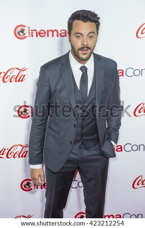 LAS VEGAS - APRIL 14 : Actor Jack Huston, recipient of the Rising Star of the Year Award, attends the CinemaCon Big Screen Achievement Awards at The Caesars Palace on April 14 2016 in Las Vegas - stock photo