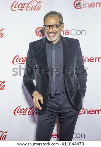 LAS VEGAS - APRIL 14 : Actor Jeff Goldblum attends the CinemaCon Big Screen Achievement Awards at The Caesars Palace on April 14 2016 in Las Vegas - stock photo