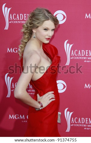 LAS VEGAS - APRIL 5: Taylor Swift at the 44th annual Academy Of Country Music Awards held at the MGM Grand on April 5, 2009 in Las Vegas, Nevada - stock photo