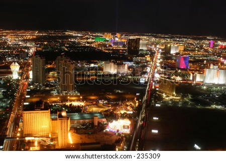 Las Vegas at night from the Stratosphere Tower