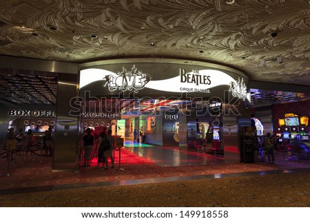 LAS VEGAS - AUGUST 11, 2013 - Beatles at The Mirage on August 11, 2013  in Las Vegas. The Beatles show Love is written and directed by Dominic Champagne.