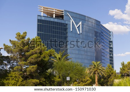 LAS VEGAS - AUGUST 20, 2013 - M Resort on August 20, 2013  in Las Vegas. M Resort Casino is a boutique hotel and casino owned and operated by Penn National Gaming. - stock photo