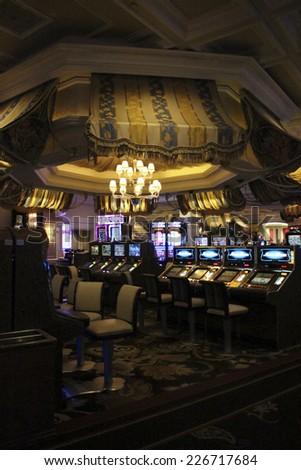 Las Vegas Bellagio Hotel Casino in October 2014 - stock photo