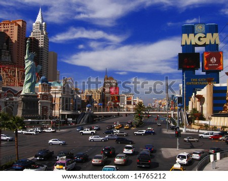 Las Vegas, boulevard, Nevada, US - stock photo