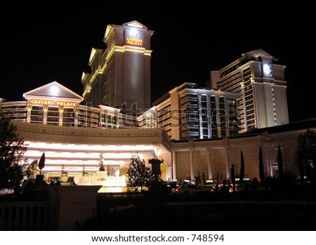 Las Vegas Ceasar Palace Hotel at night