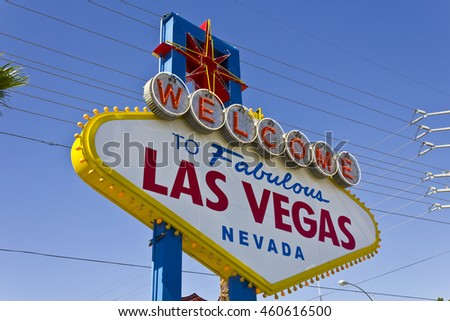 Las Vegas - Circa July 2016: Welcome to Fabulous Las Vegas sign on the Las Vegas Strip IV
