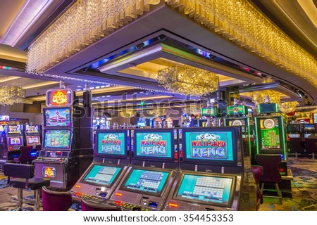 LAS VEGAS - DEC 18 : The Interior of Cosmopolitan hotel and casino on December 18 2015 in Las Vegas. The Cosmopolitan opened in 2010 and it has 2,995 rooms and 75,000 sq ft casino.