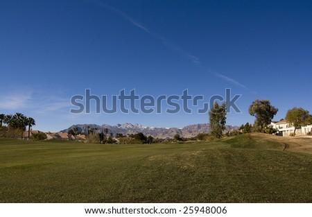 Las Vegas Desert Golf Course Rough - stock photo