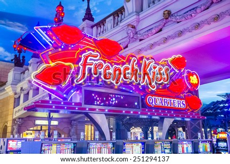 LAS VEGAS - FEB 04 : The interior of Paris hotel and casino on February 04 2015 in Las Vegas, Nevada,  The Paris hotel opened in 1999 and features a replica of the Eiffel Tower.