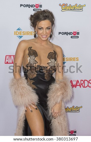 LAS VEGAS - JAN 23 : Adult film actress Abigail Mac attends the 2016 Adult Video News Awards at the Hard Rock Hotel & Casino on January 23, 2016 in Las Vegas, Nevada.