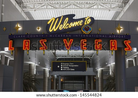 LAS VEGAS - JULY 01,  - McCarran on July 01, 2013  in Las Vegas. In 2003 McCarran announced a  new baggage-tracking system using Radio-frequency identification bag tags from Matrics Inc.