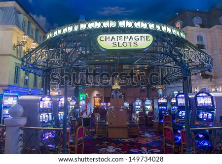 LAS VEGAS -JULY 31: The interior of Paris hotel and casino on July 31, 2013 in Las Vegas, Nevada,  The Paris hotel opened in 1999 and features a replica of the Eiffel Tower. - stock photo