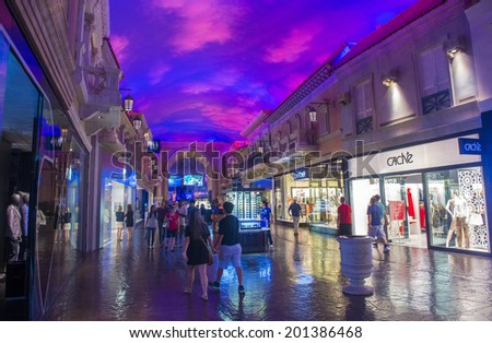 LAS VEGAS - JUNE 15 :The casino of Ceasars Palace on June 15, 2014 in Las Vegas. Caesars Palace is a luxury hotel and casino located on the Las Vegas Strip. Caesars has 3,348 rooms in five towers  - stock photo