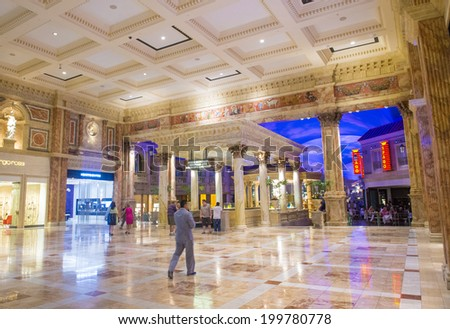 LAS VEGAS - JUNE 15 :The Ceasars Palace interior on June 15, 2014 in Las Vegas. Caesars Palace is a luxury hotel and casino located on the Las Vegas Strip. Caesars has 3,348 rooms in five towers  - stock photo