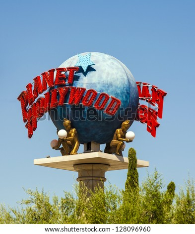 LAS VEGAS, JUNE 15: The Planet Hollywood Resort and Casino seen on June 15,2012 in Las Vegas. The casino originally opened under the name Tally-Ho in 1963. - stock photo