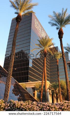 Las Vegas Luxor Hotel Building on October 2014 - stock photo