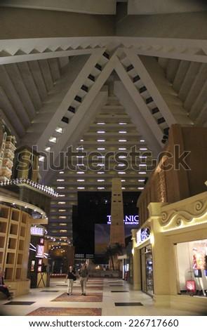 Las Vegas Luxor Hotel Shopping Mall on October 2014 - stock photo