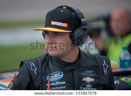 LAS VEGAS - MAR 09: Nelson Piquet Jr at the Nascar Sams Town 300 in Las Vegas, NV on Mar 09, 2013
