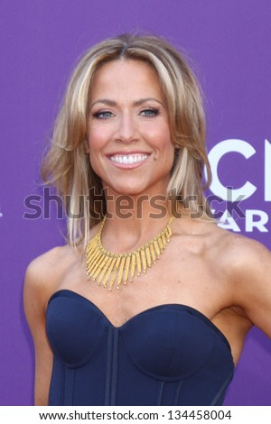 LAS VEGAS - MAR 7:  Sheryl Crow arrives at the 2013 Academy of Country Music Awards at the MGM Grand Garden Arena on March 7, 2013 in Las Vegas, NV - stock photo
