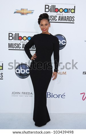 LAS VEGAS - MAY 20: Alicia Keyes at the 2012 Billboard Music Awards held at the MGM Grand Garden Arena on May 20, 2012 in Las Vegas, Nevada