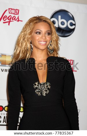 LAS VEGAS - MAY 22:  Beyonce Knowles in the Press Room of the 2011 Billboard Music Awards at MGM Grand Garden Arena on May 22, 2010 in Las Vegas, NV. - stock photo