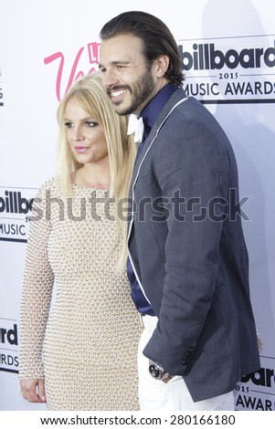 LAS VEGAS - MAY 17: Britney Spears, Charlie Ebersol at the 2015 Billboard Music Awards at the MGM Grand Garden Arena on May 17, 2015 in Las Vegas, Nevada. - stock photo