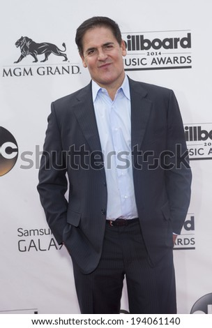 LAS VEGAS - MAY 18 : Businessman Mark Cuban  attends the 2014 Billboard Music Awards at the MGM Grand Garden Arena on May 18 , 2014 in Las Vegas. - stock photo