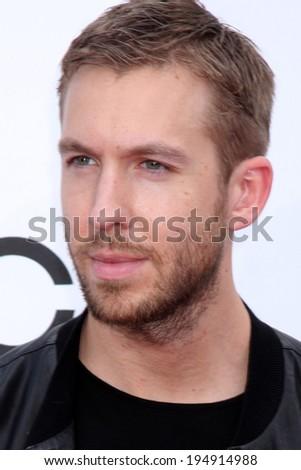 LAS VEGAS - MAY 18:  Calvin Harris at the 2014 Billboard Awards at MGM Grand Garden Arena on May 18, 2014 in Las Vegas, NV - stock photo