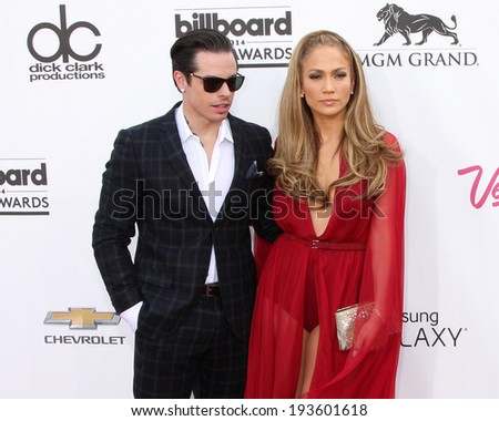 LAS VEGAS - MAY 18:  Casper Smart, Jennifer Lopez at the 2014 Billboard Awards at MGM Grand Garden Arena on May 18, 2014 in Las Vegas, NV - stock photo