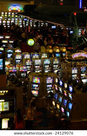 LAS VEGAS - MAY 1:Game proceeds both at night and day without interruption in game halls of New York Hotel & Casino on May 1, 2007.