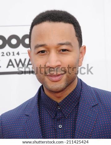 LAS VEGAS - MAY 18:  John Legend arrives to the Billboard Music Awards 2014  on May 18, 2014 in Las Vegas, NV.                 - stock photo