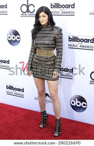 LAS VEGAS - MAY 17: Kylie Jenner at the 2015 Billboard Music Awards at the MGM Grand Garden Arena on May 17, 2015 in Las Vegas, Nevada. - stock photo