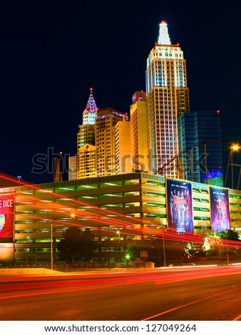 LAS VEGAS - MAY 23: New York New York Hotel and Casino on May 23, 2012 in Las Vegas.  The New York New York opened in the year 1997. - stock photo
