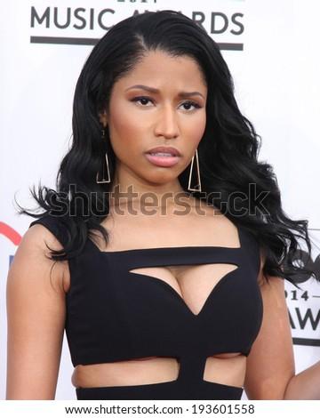 LAS VEGAS - MAY 18:  Nicki Minaj at the 2014 Billboard Awards at MGM Grand Garden Arena on May 18, 2014 in Las Vegas, NV - stock photo
