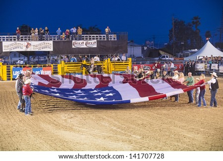 LAS VEGAS - MAY 17 : Opening Ceremony of the Helldorado Days Professional Rodeo in Las Vegas , USA on May 17 2013 - stock photo
