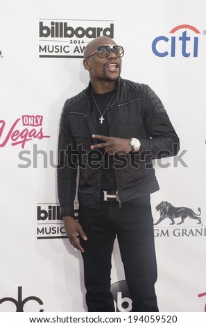 LAS VEGAS - MAY 18 : Professional boxer Floyd Mayweather Jr. attend the 2014 Billboard Music Awards at the MGM Grand Garden Arena on May 18 , 2014 in Las Vegas. - stock photo