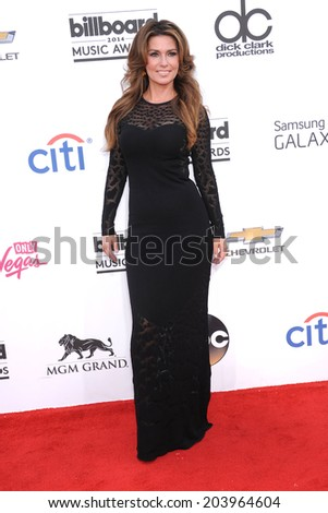 LAS VEGAS - MAY 18:  Shania Twain arrives to the Billboard Music Awards 2014  on May 18, 2014 in Las Vegas, NY                 - stock photo