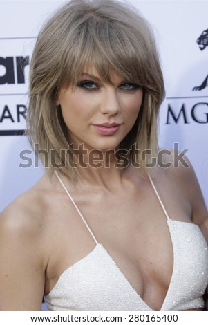 LAS VEGAS - MAY 17: Taylor Swift at the 2015 Billboard Music Awards at the MGM Grand Garden Arena on May 17, 2015 in Las Vegas, Nevada. - stock photo