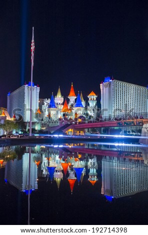 LAS VEGAS - MAY 12: The Excalibur Hotel and Casino in Las Vegas on May 12, 2014 , The Hotel was named after King Arthur's sword and opened in 1990 - stock photo