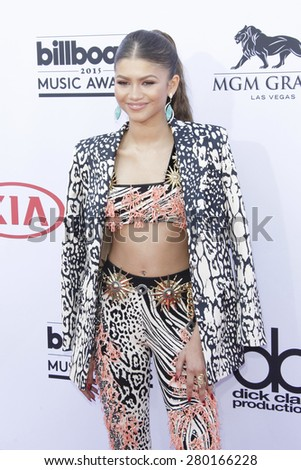 LAS VEGAS - MAY 17: Zendaya at the 2015 Billboard Music Awards at the MGM Grand Garden Arena on May 17, 2015 in Las Vegas, Nevada. - stock photo