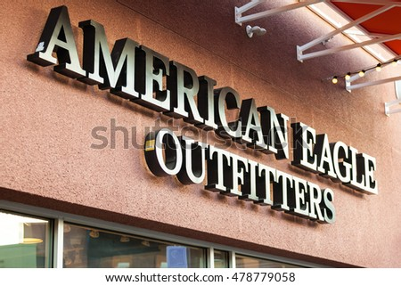 LAS VEGAS, NEVADA - August 22nd, 2016: American Eagle Logo On Store Front Sign.
