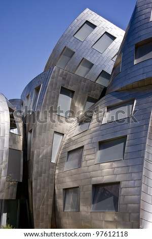 LAS VEGAS, NEVADA -MARCH 7: Recently completed landmark, modernist  building designed by noted architect Frank Gehry near downtown in Las Vegas on March 7, 2012