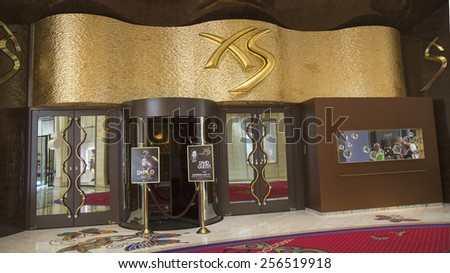 LAS VEGAS, NEVADA - MAY 10, 2014: XS Nightclub in The Encore Hotel and Casino in Las Vegas - stock photo