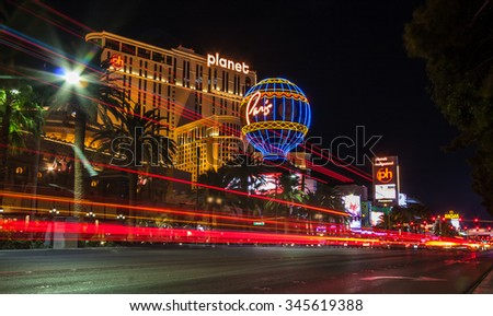 LAS VEGAS, NEVADA/UNITED STATES - November 4, 2015: Las Vegas Strip on November 4, 2015 in Las Vegas.