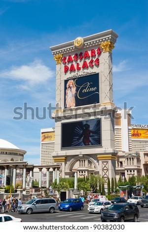 LAS VEGAS, NEVADA, USA - CIRCA APRIL 2011: Caesars Palace is a luxury hotel and casino located on the Las Vegas Strip - stock photo