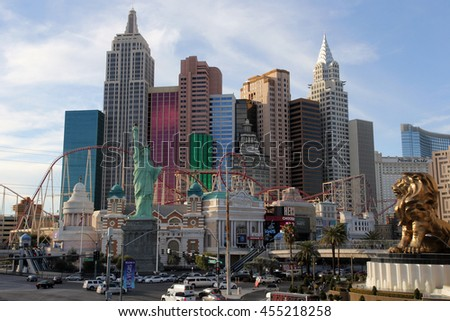 Las Vegas, Nevada, USA - Feb 4, 2016: Hotel and casino New York New-York in Las-Vegas