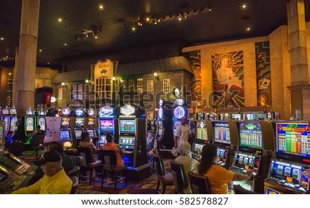 LAS VEGAS, NEVADA, USA   JULE 5, 2013: New York Hotel Casino